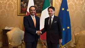 Italian Prime Minister Giuseppe Conte met in Rome on Friday with HE the Deputy Prime Minister and Mi