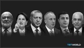Six candidates are running for the presidency in Turkey's presidential elections, which are being he