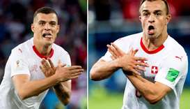 The controversial goal celebration by Granit Xhaka and Xherdan Shaqiri