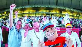 Envoys watch matches at Khalifa Stadium's fan zone