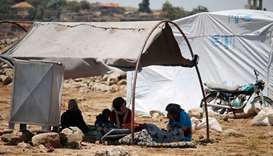 Syrians flee to makeshift camps as bombing escalates in south