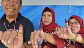 Indonesia votes in preview of 2019 presidential polls