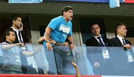 Maradona fine after being treated by paramedics at World Cup