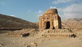 The Bibi Maryam mausoleum in the ancient city of Qalhat, Oman, which has been added to Unesco's worl