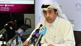 NHRC chairman Dr Ali bin Sumaikh al-Marri addressing the press conference on Monday. PICTURE: Nousha