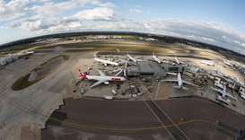 A general view Heathrow Airport near London