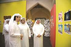 Cartoon exhibition on siege opens at Katara