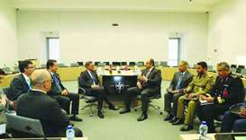 HE the Deputy Prime Minister and Minister of Defence Affairs Dr Khalid bin Mohamed al-Attiyah met in