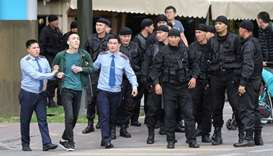 Kazakh authorities arrested 670 during election protests