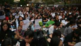 rotesters attend the 'Hong Kong Mothers Anti-Extradition Rally', in protest against actions of the c