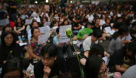 Protesters attend the 'Hong Kong Mothers Anti-Extradition Rally', in protest against actions of the