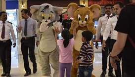 Meet and greet with characters at Al Khor Mall as part of SiQ