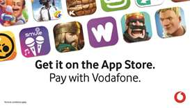 Vodafone carrier billing now available for Apple range of services