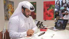Galeries Lafayette Doha hosts exhibition for Qatari artist Fahad al-Maadheed