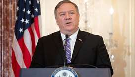 US Secretary of State Mike Pompeo speaks during the release of the 2019 Trafficking in Persons Repor