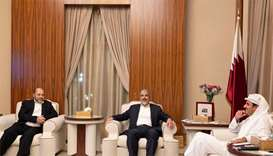 Amir meets Hamas delegation