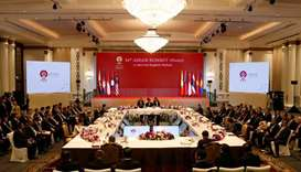 General view of the 34th ASEAN Summit plenary session in Bangkok