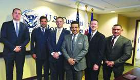 HE the Attorney General Dr Ali bin Fetais al-Marri with US officials during his visit to the country