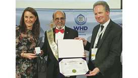 Seetharaman honoured with 'Best CEO of the Century for Peace and Humanity' award by WHD London
