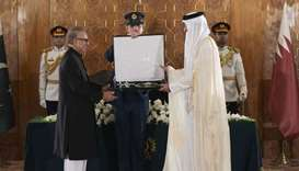 "Pakistan President Dr Arif Alvi confers  ""Nishan-e-Pakistan"", Pakistan's highest civil award, on His"