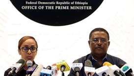 Nigusu Tilahun, Press Secretary at the office of the Ethiopian Prime Minister, and his deputy Billen