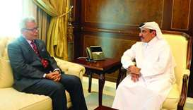 HE the Minister of Transport and Communications Jassim Seif Ahmed al-Sulaiti meets with Malaysia's M