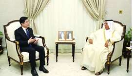 HE the Speaker of the Advisory Council, Ahmed bin Abdullah bin Zaid al-Mahmoud meets with ambassador