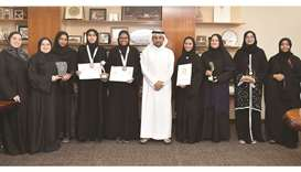 QU's Al-Bairaq students win research contests