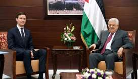 Palestinian President Mahmoud Abbas meets with White House senior advisor Jared Kushner