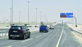 The new interchange on Al Khor Road.