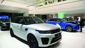 A variety of Range Rover, Land Rover and Jaguar vehicles are on display at the new showroom