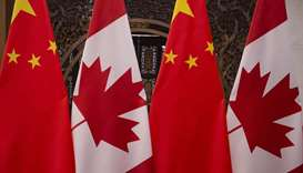 Canadian and Chinese flags