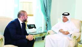 Minister of State for Foreign Affairs meets Romania envoy