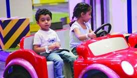 The 'Kids Driving School' at SEC gives children a feel of driving on the road.
