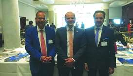 Qatar Chamber chairman Sheikh Khalifa bin Jassim al-Thani together with Qatar's ambassador to German