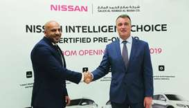 Officials mark the launch of the Nissan Intelligent Choice programme.