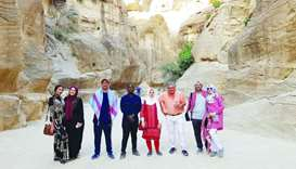 Students led by Dr Tarek Swelim embarked on a trip to visit historical sites in Jordan.