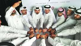 The unveiling of the 'L.U.C GMT One Qatar Watch Club Edition' marked the club's first anniversary. S