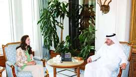 HE the Prime Minister and Minister of Interior Sheikh Abdullah bin Nasser bin Khalifa al-Thani meets