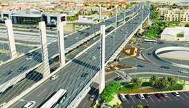 Architect's impression of the proposed Cable-Stayed Bridge on Sabah Al-Ahmad Corridor.