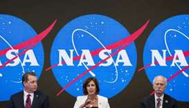 (L-R) NASA Chief Financial Officer Jeff DeWit, ISS Deputy Director Robyn Gatens and NASA Associate A