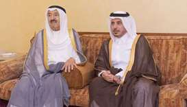 Amir condoles with Kuwait's Amir, Crown Prince, PM