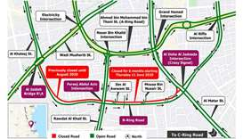 Six months partial closure on B Ring Road from Thursday