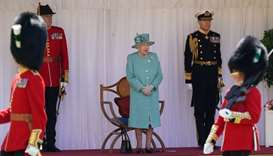 Troops mark Queen Elizabeth's official birthday at Windsor Castle