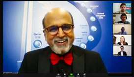 Doha Bank CEO Dr R Seetharaman during the online interview.