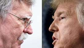 Bolton (left)  and Trump