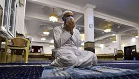 A worshipper at a mosque that has opened in Phase 1