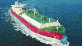 An LNG vessel of Qatargas. Doha's ability to push consolidation measures until next year is mainly b