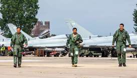 UK-Qatari Typhoon Air Force Squadron begins flying