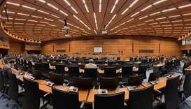 The IAEA Board of Governors meeting at the IAEA Headquarters in Vienna, Austria